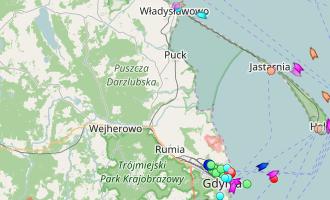 Ruch statków w Zatoce Gdańskiej