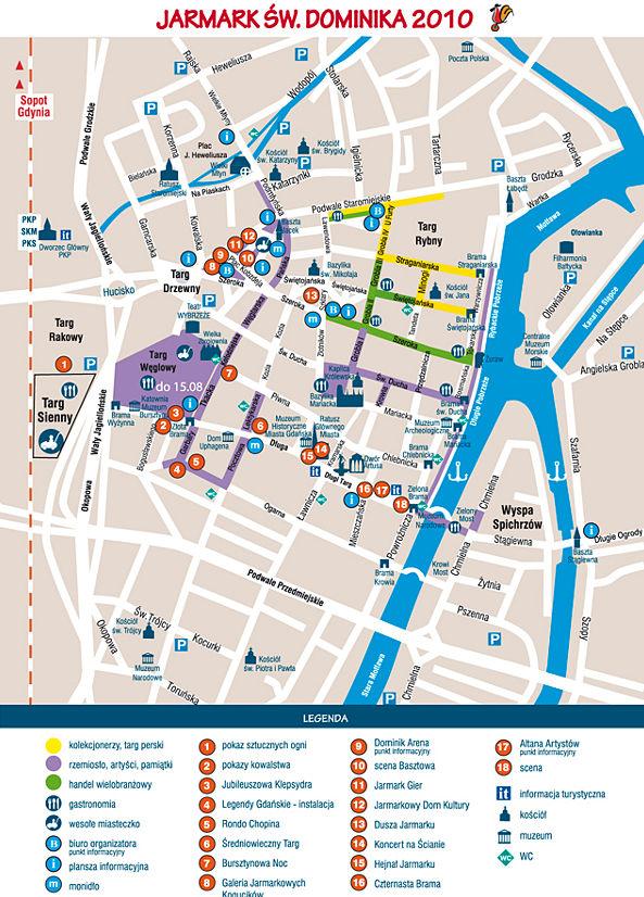 Mapa jarmarku św. Dominika 2010