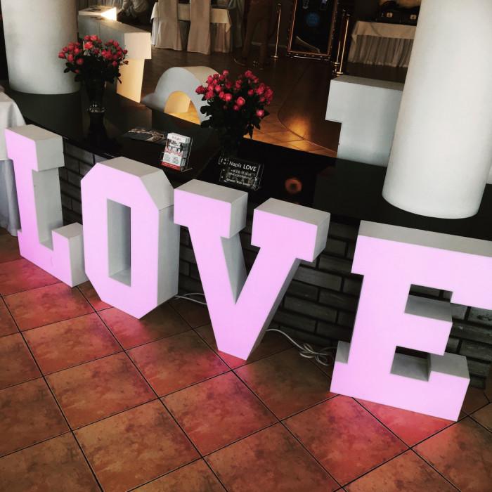 Napis LOVE   MIŁOŚĆ na wesela: zdjęcie 80000214