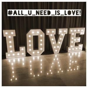 Napis LOVE na Waszym weselu. HIT dekoracji 2017/2018