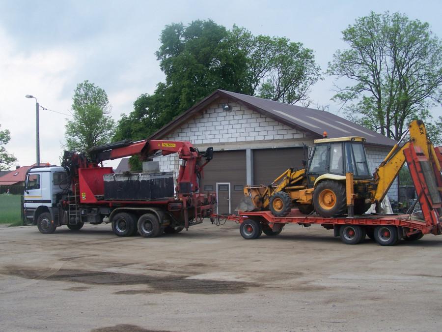 Prace ziemne, Usługi koparko-ładowarką