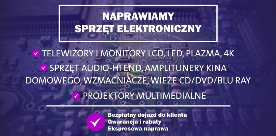 Naprawa telewizorów amplitunerów Projektorów Wież dvd bd Gramofonów