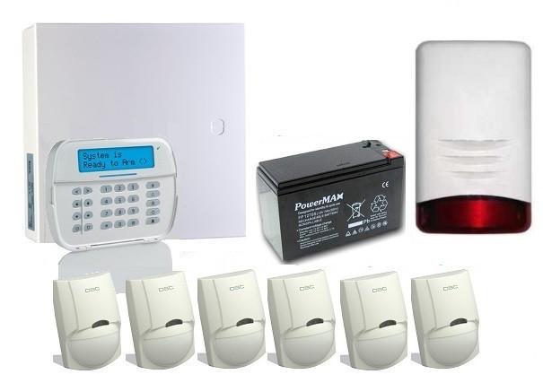 Alarm DSC HS2016 z 6 czujkami ruchu LC-100