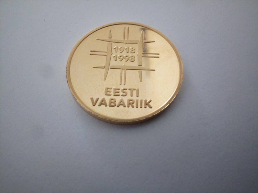 Moneta 500 Krooni 1998r/Złoto: zdjęcie 79392453