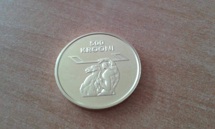 Moneta 500 Krooni 1998r/Złoto: zdjęcie 79392454