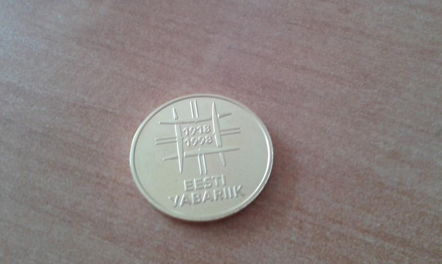 Moneta 500 Krooni 1998r/Złoto: zdjęcie 79392455