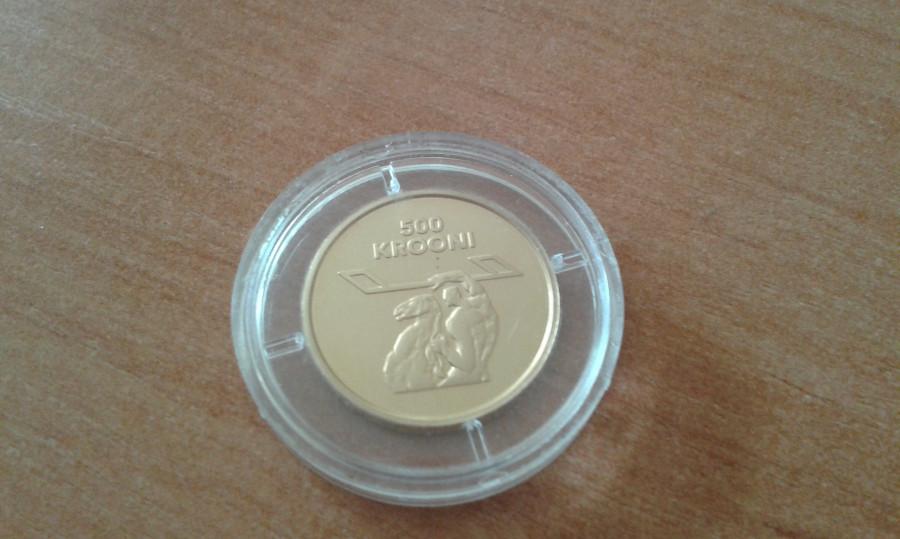 Moneta 500 Krooni 1998r/Złoto: zdjęcie 79392456