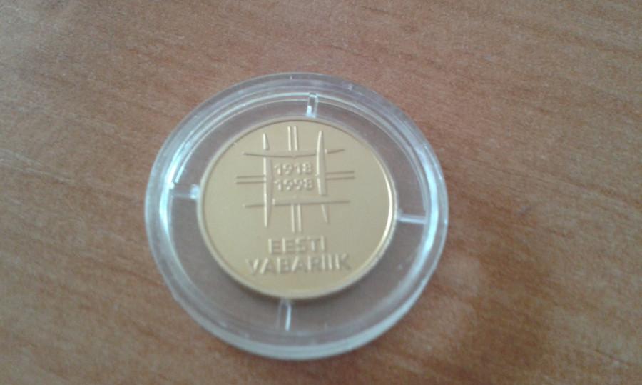 Moneta 500 Krooni 1998r/Złoto: zdjęcie 79392457