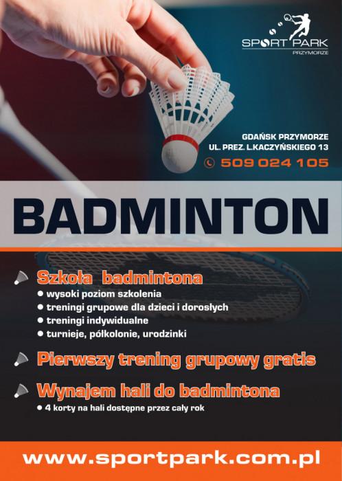 Szkoła badmintona - Treningi grupowe oraz indywidualne