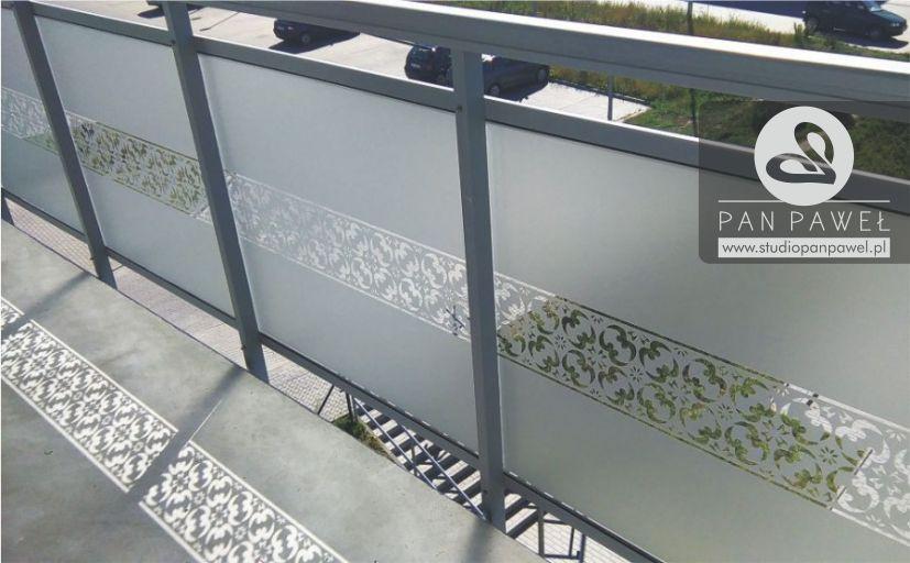 Dekoracyjna folia na balkon - oklejanie balkonów, folia matowa