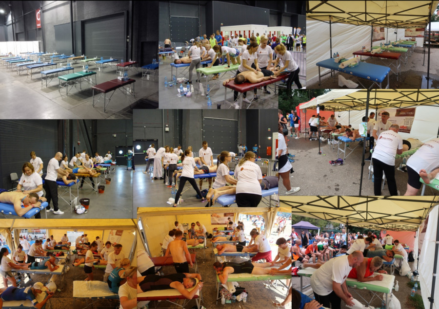 Organizacja stref masażu/regeneracji na zawodach/eventach lub dla firm