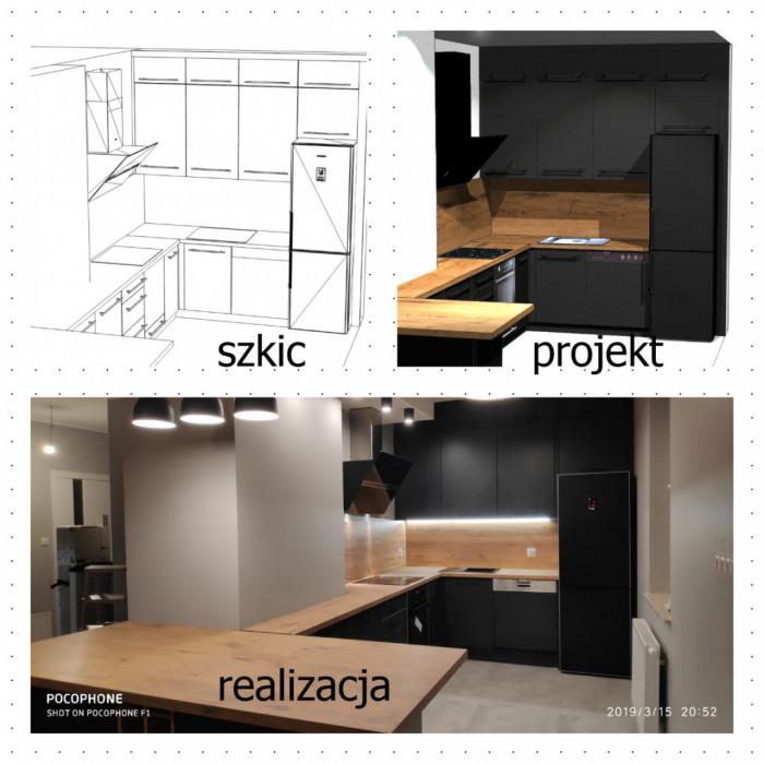 Kuchnie na wymiar / szafy do zabudowy / meble na wymiar KuchnieGE: zdjęcie 82579874