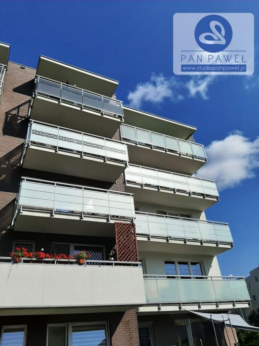 usługi oklejania szyb - oklejanie balkonów, folia szroniona, matowa: zdjęcie 83086919