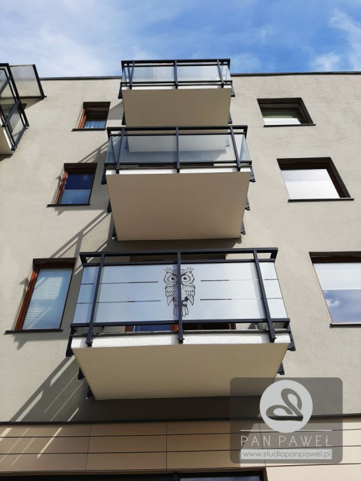 usługi oklejania szyb - oklejanie balkonów, folia szroniona, matowa: zdjęcie 83086921