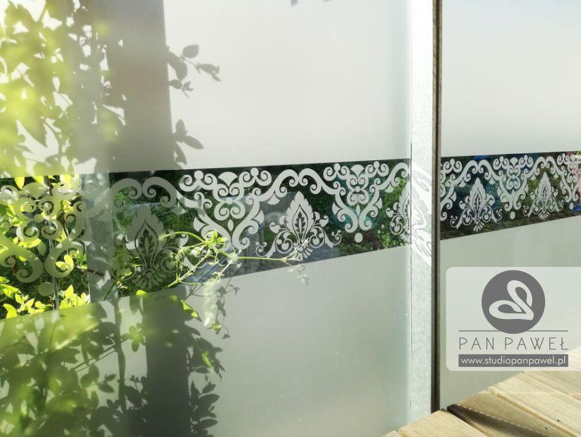 usługi oklejania szyb - oklejanie balkonów, folia szroniona, matowa: zdjęcie 83086922
