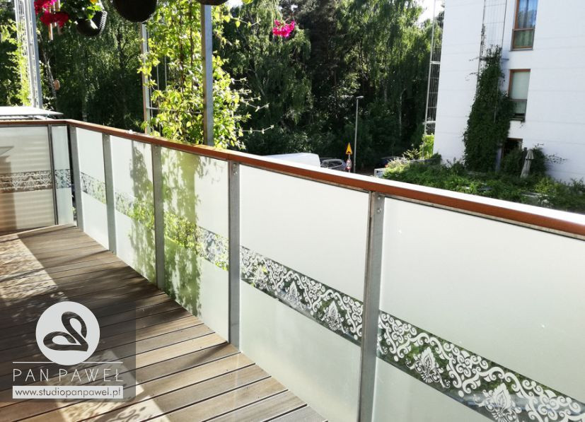 usługi oklejania szyb - oklejanie balkonów, folia szroniona, matowa: zdjęcie 83086923