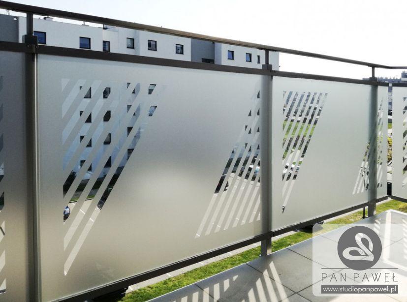usługi oklejania szyb - oklejanie balkonów, folia szroniona, matowa: zdjęcie 83086924