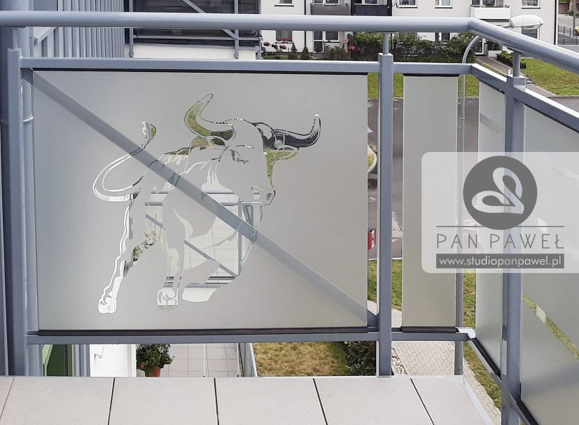 usługi oklejania szyb - oklejanie balkonów, folia szroniona, matowa: zdjęcie 83086925
