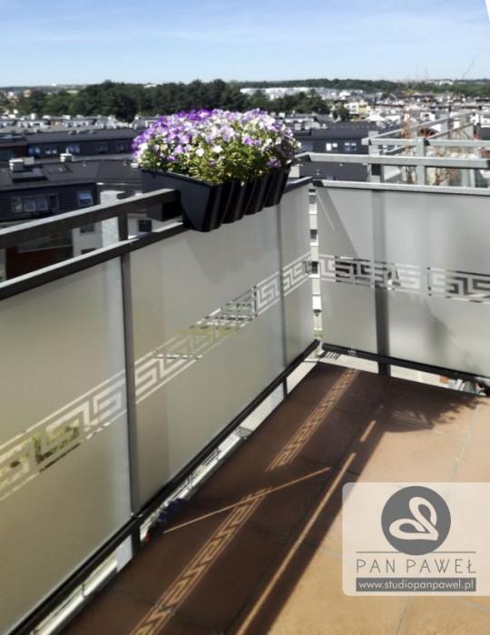 usługi oklejania szyb - oklejanie balkonów, folia szroniona, matowa: zdjęcie 83086926