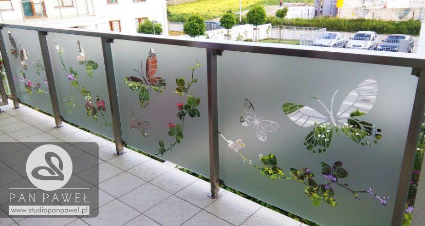usługi oklejania szyb - oklejanie balkonów, folia szroniona, matowa: zdjęcie 83086927