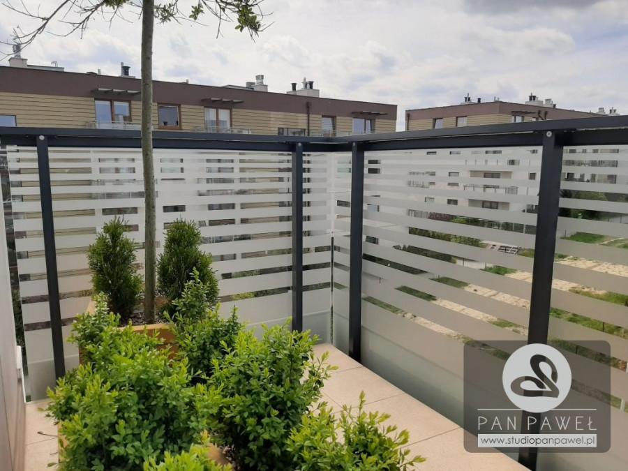 usługi oklejania szyb - oklejanie balkonów, folia szroniona, matowa: zdjęcie 83086930