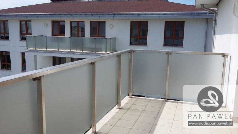 usługi oklejania szyb - oklejanie balkonów, folia szroniona, matowa: zdjęcie 83086933