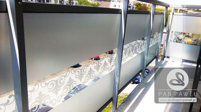 usługi oklejania szyb - oklejanie balkonów, folia szroniona, matowa: zdjęcie 83086934