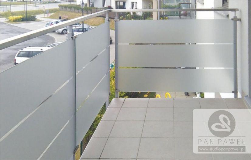 usługi oklejania szyb - oklejanie balkonów, folia szroniona, matowa: zdjęcie 83086935