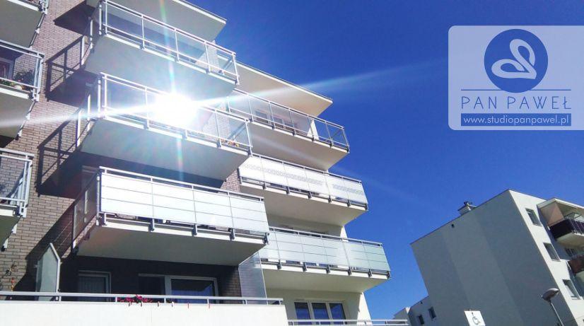 usługi oklejania szyb - oklejanie balkonów, folia szroniona, matowa: zdjęcie 83086937
