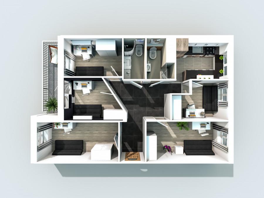 Pokój w 5-pokojowym mieszkaniu - Gdańsk Zaspa, ul. Pilotów: zdjęcie 84167665