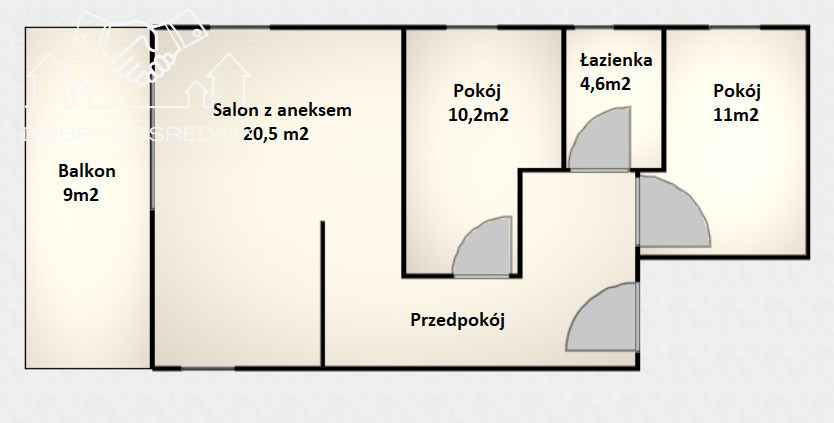Jasień /3 pokoje / 2 miejsca postojowe/Duży balkon: zdjęcie 87673311