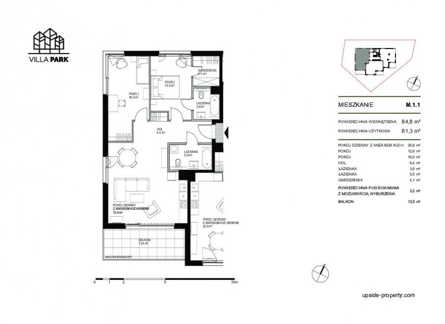Przestronny Apartament Villa Park 81,3o m2: zdjęcie 85608827