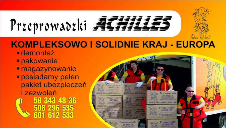 Achilles Przeprowadzki Transport i Magazynowanie Storage garaż