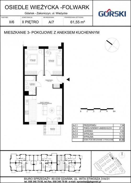 mieszkanie A7 Wieżycka Folwark 61.65m2