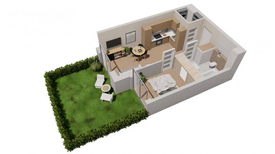 Pruszcz Park 0.B.2- mieszkanie 2-pok. na parterze z ogródkiem: zdjęcie 87251702