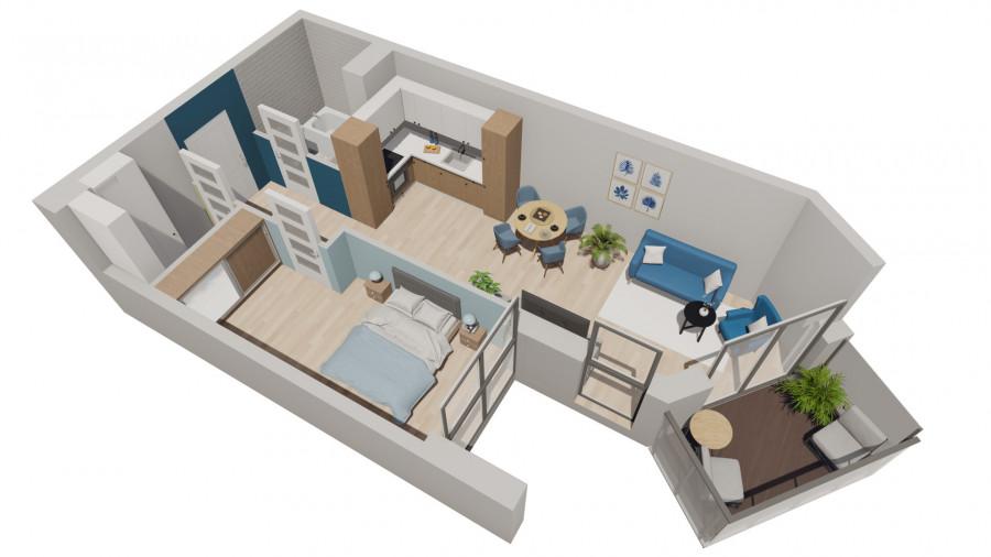 Pruszcz Park 2.A.29- mieszkanie 2pok na II piętrze: zdjęcie 87251619