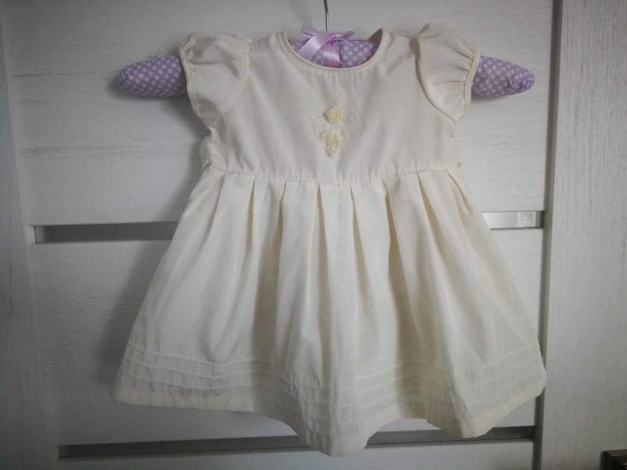 Sukienka wizytowa/chrzest ecru George 0-3 mies.: zdjęcie 87143191