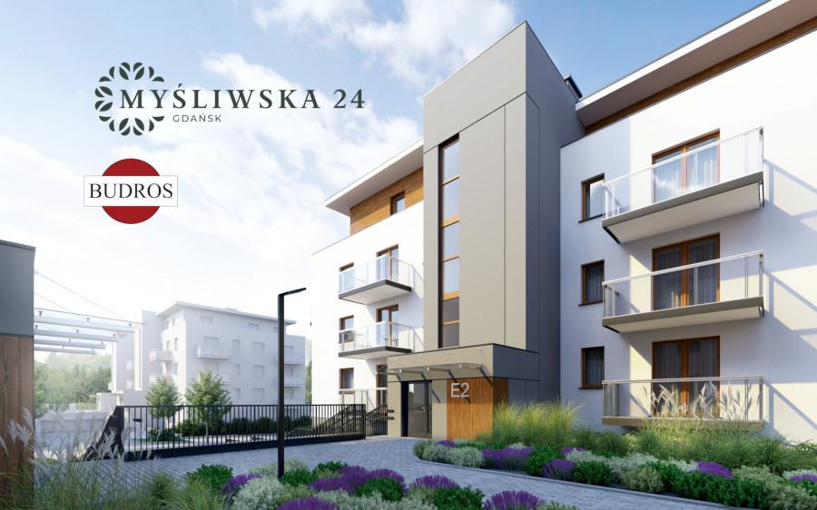 Mieszkanie z tarasem E2 8/4, Myśliwska 24, 38,79 m²
