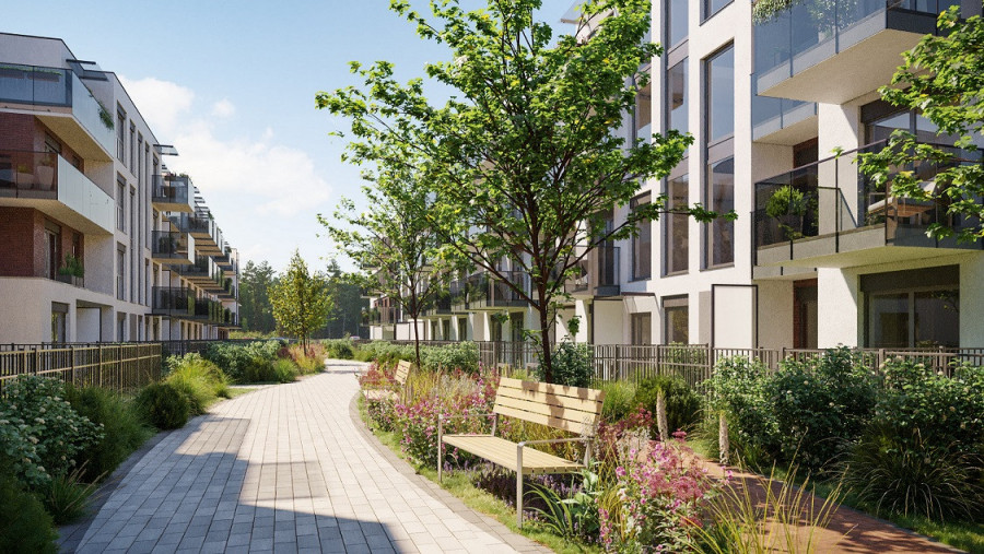 Pruszcz Park 0.B.1 - mieszkanie 2-pokojowe z ogródkiem na parterze: zdjęcie 87493374