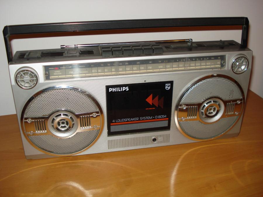 Radiomagnetofon Philips D8054 z lat 80 dla kolekcjonera.