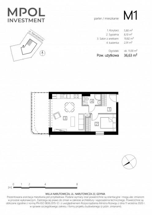 Przedsprzedaż Willa Narutowicza M1 - 2 pokoje z ogródkiem: zdjęcie 87404458