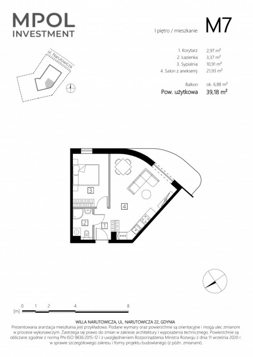 Willa Narutowicza M7 - 2 słoneczne pokoje: zdjęcie 87410560