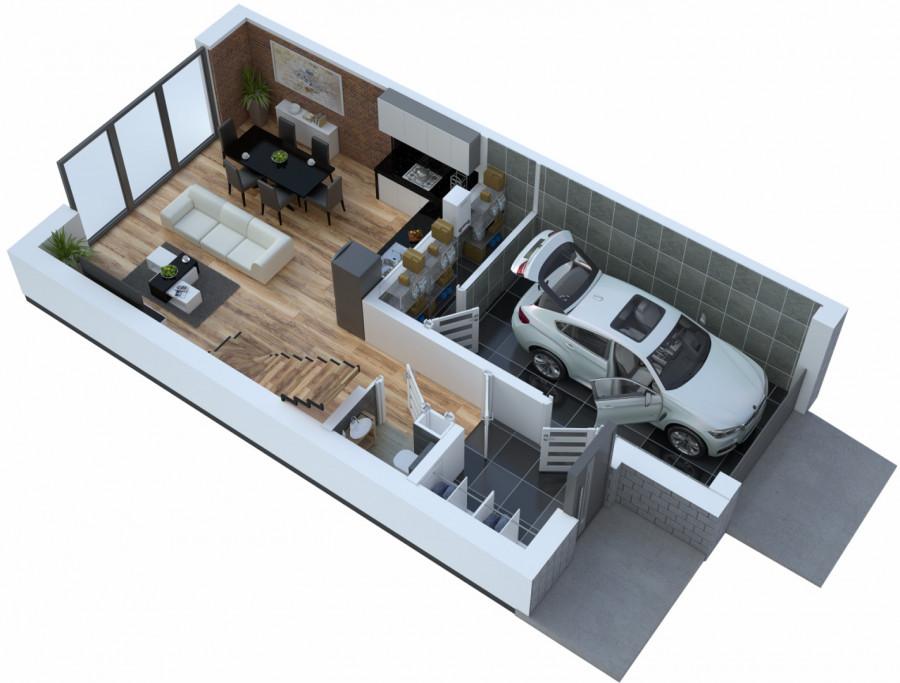 Oś. Dąbrówki - garaż, ogród 140 m2, pompa ciepła, fotowoltaika
