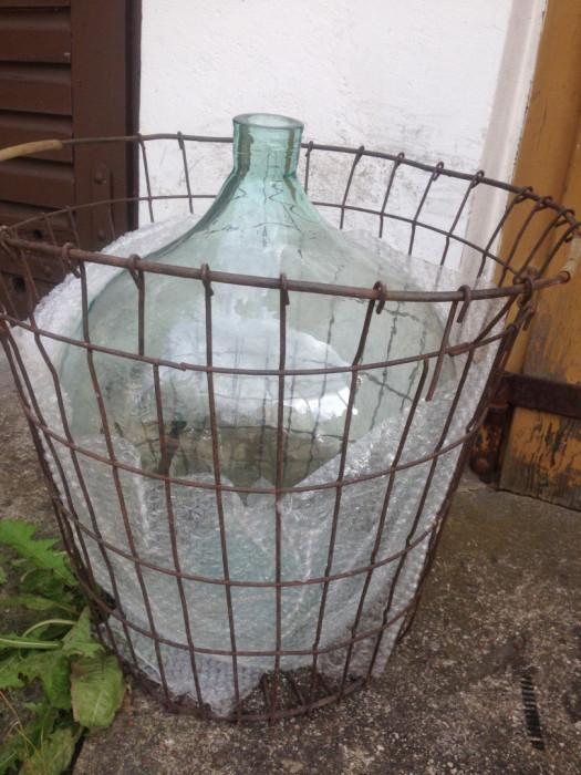 Sprzedam kosz do wina metalowy na balon / gąsior / dymion 40-50l: zdjęcie 87643720