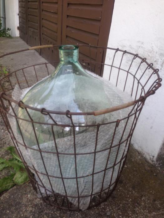 Sprzedam kosz do wina metalowy na balon / gąsior / dymion 40-50l: zdjęcie 87643721