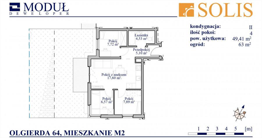 M2 Olgierda 64, 4 pokoje, ogród: zdjęcie 87644840