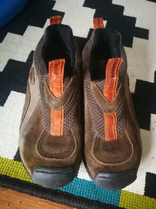 Buty skórzane brązowe do kostki Geox Respira r. 29 jesień