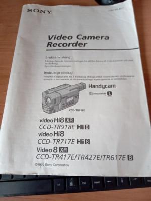 Instrukcja kamery SONY