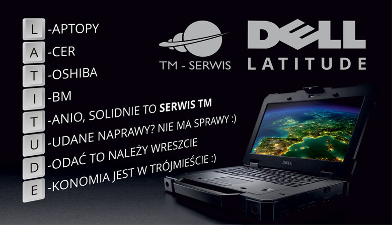 Laptopy, komputery, akcesoria, serwis Gdańsk TM-Serwis