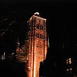 Wieża Kościoła Mariackiego w zimie
